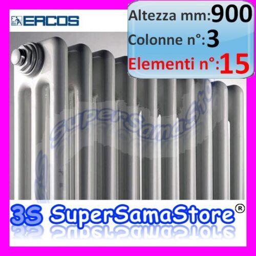 3s calorifero radiatore acciaio inox 15 elementi h 900 for Ercos termosifoni