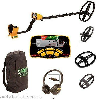 Garrett Ace 350 Metal Detector With Two Coils & Accessories & Free Shipping