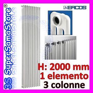 3s calorifero tubolare acciaio 3 colonne altezza 2 mt ebay for Radiatori in ghisa ercos