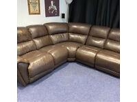Harveys Leather Corner Sofa