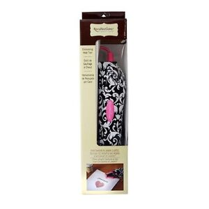 Embossing tool, two powders and one ink pad