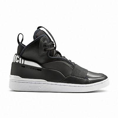 NEW! Puma Men's Brace Mid Alexander McQueen Sneakers Black/White #361477* 149C