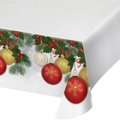 Christmas Ornament Elegance Plastic Banquet Tablecloth Winter Party Decoration - Christmas Plastic Tablecloths
