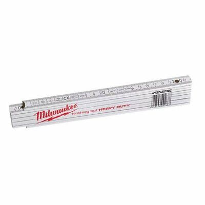 Milwaukee Metro Plegable Madera 2 Metros Blanco (10 Eslabones)