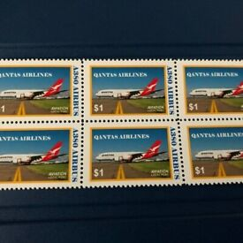 Qantas Airlines, Airbus a380 1st Flight, 10 Post Stamps., New, Collectible.