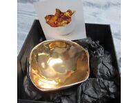 Dish Decorative - Porcelain & Gold Lustre BRAND NEW