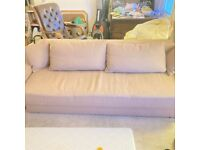MUST GO...Brown fabric 4 seater sofa bed