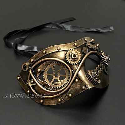 New Metallic Color Steampunk Fantastic Designs Unisex Costume Halloween Mask