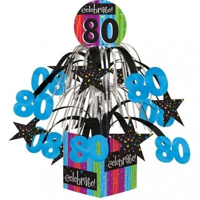 Milestone Celebration 80th Birthday Mini Cascade Centerpiece Party Decoration