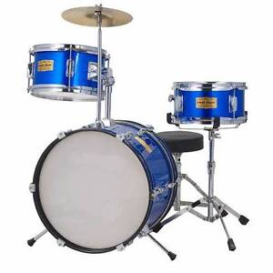 Junior 3 Piece Drum Kit - Kids Size - Blue or Red Banyo Brisbane North East Preview