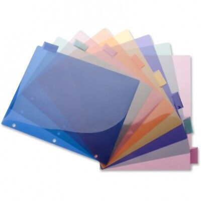Business Source Poly Insert Index Dividers 8-1/2