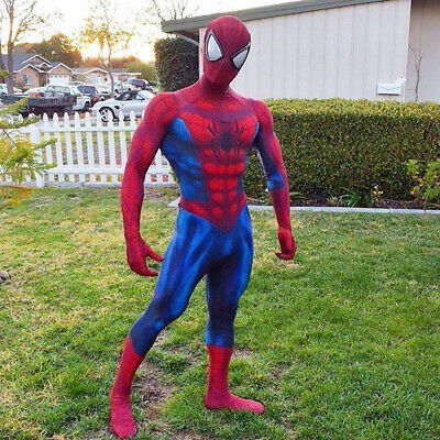 The Amazing Spiderman Tights Halloween Cosplay Costumes Zentai Suit 3D Print](Spiderman Halloween)