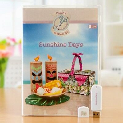 Cutting Craftorium SUNSHINE DAYS USB  & booklet