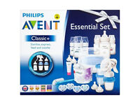 Baby & Kids Stuff PHILIPS AVENT CLASSIC + ESSENTIAL FEEDING SET WITH BREAST PUMP