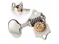 nickel vintage oval nickel knob set of 6 Waverly #1129 tuners solid peghead