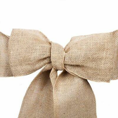 Bulk Sale - 10/25/50/100/200 Burlap Chair Sash Bows Banquet Wedding Decoration ](Burlap Wedding Decor)