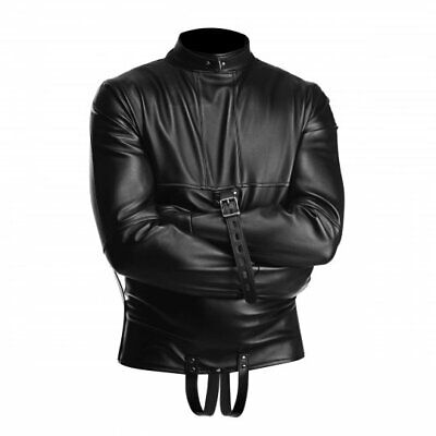 Straight Jacket Strict Vegan Leather Bondage Adult Medium Unisex Restraints Kink - Straight Jacket Costumes