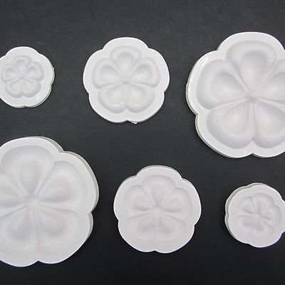 3D PLASTIC MOLDS TO CREATE FLOWER WITH EVA FOAM / FOAMY PACK OF 3 SIZES MODEL C for sale  Shipping to Canada