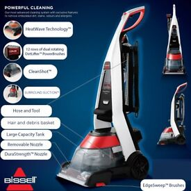 Bissell 1456 Powerwash Premier Carpet Rug Stairs Upholstery CleanerShampooer... used