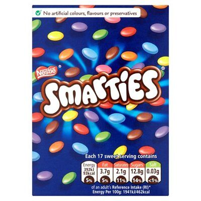 Nestle Smarties Retro 120gm Carton Dated End November 2019