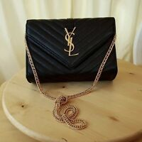 YSL Black Messenger Bag - Delivery Available