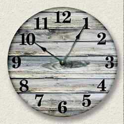 OLD WEATHERED BOARDS Wall Clock - Rustic Cabin Wall Home Decor - 7001_FTLCC