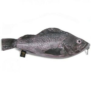 black rockfish real fish like zipper pencil case funny
