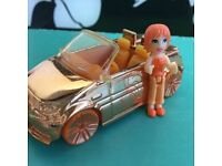 POLLY POCKET with her METALLIC CAR
