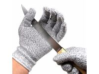 Cut Resistant Gloves - Food Grade Kitchen Level 5 Cut Protection **Brand New**
