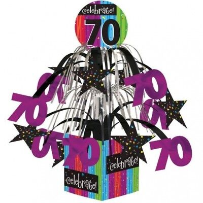 Milestone Celebration 70th Birthday Mini Cascade Centerpiece Party Decoration - 70th Decorations