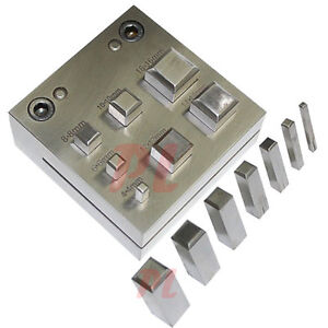 SQUARE Shape 4 - 16 mm DISC CUTTER Metal Craft Hole Puncher Punches 3/16 - 5/8