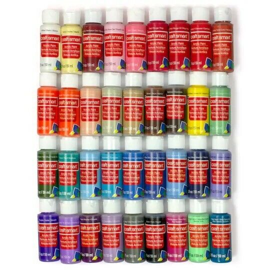 Acrylic Paint Set For Kids & Adults 36 Colors 2 Oz Artist Craft Painting Kit