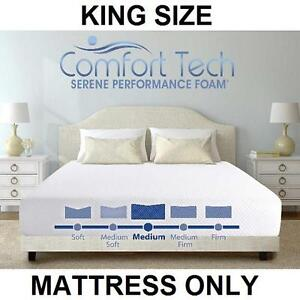 NEW CT 10 INCH FOAM KING MATTRESS - 123326732 - COMFORT TECH SERENE