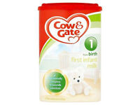 Cow gate and Aptamil Formular grade A milk (All stages)