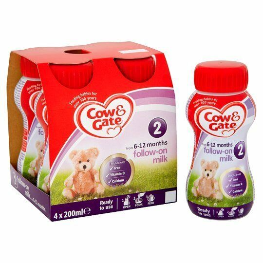 Cow And Gate 2 Follow On Milk Multipack 4X200ml Ready To Feed Liquid