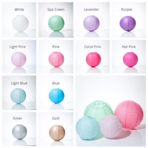 Colourful chinese paper lanterns for sale! Variety of sizes!