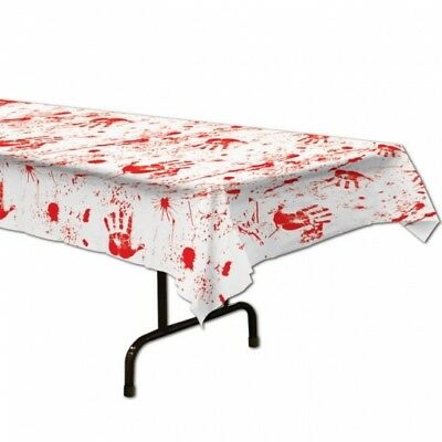 Bloody Handprints Plastic Tablecloth Slaughter House Halloween Party - Halloween Handprints