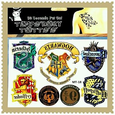 1x HARRY POTTER Temporary Tattoos Adult Hogwarts Muggles Stickers Transfers 🌟