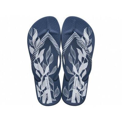Ipanema Anatomic Nature Leaves Flip Flops - Navy - UK Sizes 3 4 5 6 7 8 - BNIB