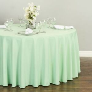Lavender, Ivory and Green Table Cloths