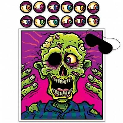 Pin The Eyeball On The Zombie Game Halloween Party Decorations Supplies