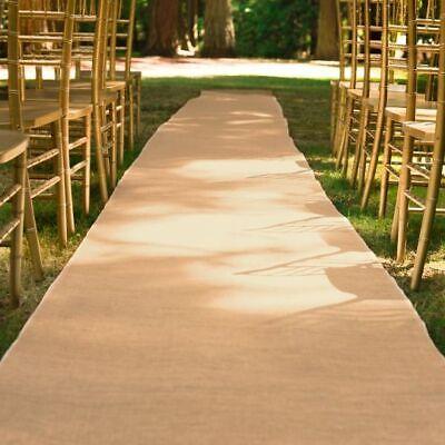 3 ft X 100 ft. Burlap Aisle Runner Natural Jute Wedding Event Banquet - Burlap Aisle Runner