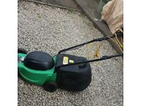 Green lawn mower