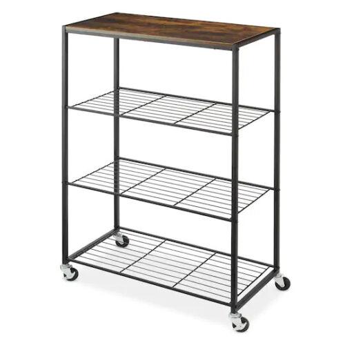 Whitmor Rolling 4 Tier Storage Shelves