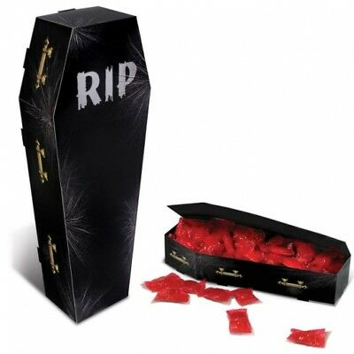 3-D Coffin Centerpiece Favor Box Paper Halloween Party Decorations Supplies