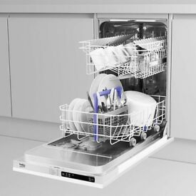 BECKO DIS15011 FULLY INTEGRATED SLIMLINE DISHWASHER - ONLY £160 - BRAND NEW!!!