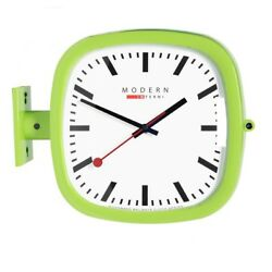 Modern Square Double Sided Wall Clock Design Station Clock Home Decor - P205GR