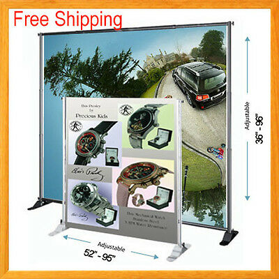 8 Telescopic Banner Stand Backdrop Wall Exhibitor Trade Show Display Pop Up