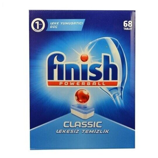 68 Count Finish Powerball Dishwasher Detergent Classic Stain Remover (6-Pack)