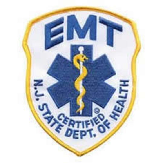 NJ EMT Emergency Medical Technician Shoulder Patch #5338